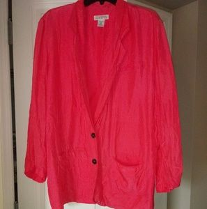 Vintage Express 100% silk jacket